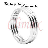 Stunning Stainless Steel Metal Male Time Delay Cock Penis Rings, Male Sex Toys Adult Sex Products