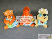 Novelty Ice Age  toys set each  with blanket For kids Xmas gift   1pc/lot  three styles-sid,scrat,diego