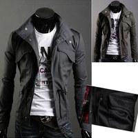 2014 Men's Fashion Brand Clothing ,Army Design Casual Men's Zipper Jackets,Autumn Quality Men's Slim Fit Coats