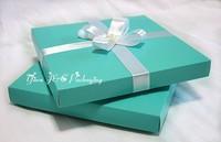 New 50pcs 15.5 x 15.5cm Square 2PC Blue Party Invitation Boxes,Party Box,Wedding Box (JCO-00Z7A)