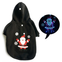 LED Christmas dog pet Christmas clothes, dog clothing winter pet clothes for dogs costume Christmas pet clothes dog hoodie puppy