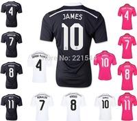 KROOS JAMES 14/15 Real Madrid Champions League black soccer football jersey 2015 best Thai quality Ronaldo BALE soccer uniforms