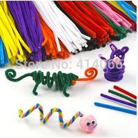 100pcs/ lot Children's Educational Toys DIY toys materials shilly-stick Plush Stick handmade art Christmas toys