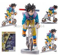 "Goku Sun riding bicycle Super Saiyan Dragon Ball Z action figures,Dragonball PVC 23cm 9"" collection Toy Figures gift model toy"
