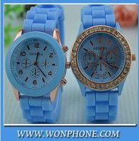 Free shipping! Fashion watch Casual Watch Geneva Unisex Quartz watch men women Analog wristwatches Sports Watches  2pcs in lot
