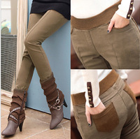 Plus Size Formal Pants Women Polainas Velvet Thicken Legging Trousers Autumn Winter Slim Skinny Jeans Boot Cut Harem Sweatpants