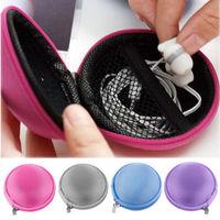1 PCS Random Color!! Mini Hard Carry Storage Pouch Bag Case Hold For Headphone Earphone Headset Cute