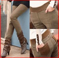 women winter pants 2014 Thicker leggings Winter was thin trousers plus size Pencil pants Boots, pants elastic waist