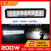 "17.2"" 200W LED Work Light Bar Spot / Flood IP67 12v 24v Tractor ATV Offroad LED Fog Light External Light Save on 240W"