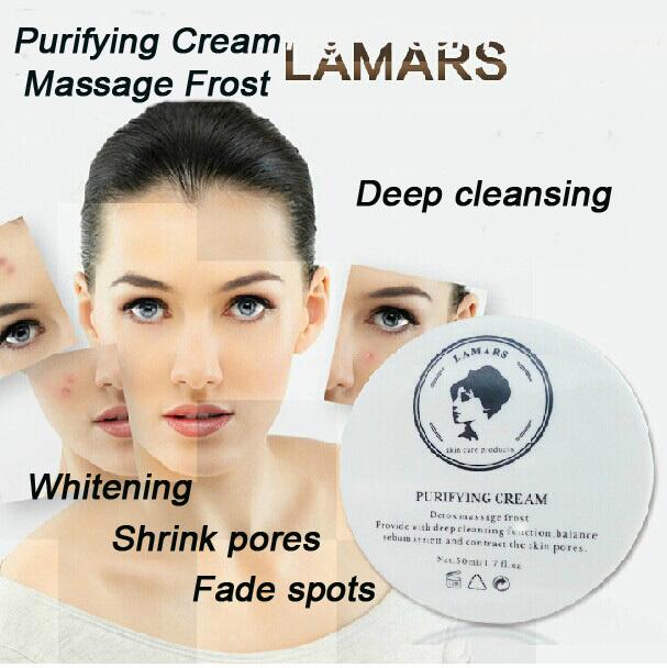 LAMARS Skin Care Detox Purifying Cream Massage Frost Whitening Face Cream To Remove Dark Spot Acne Treatment Bleaching Face Care(China (Mainland))