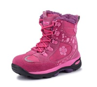 30 Degrees Below Zero Child Outdoor Waterproof Slip-resistant Outsole Cotton-padded Snow Boots Children Girls Warm Winter Shoes