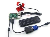 Raspberry Pi Model B+ (V3) + WIFI + Wireless Keyboard + Camera and so on mini PC = RPi B+ Package C