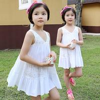 Hu sunshine wholesale 2014 New Hot Frozen Dress Elsa & Anna Summer Dress For Girl Princess Dresses11-14T  WW10080586H