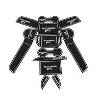 Non- slip Interior door pad/cup mat door gate slot mat auto accessories for 2013 2014 MITSUBISHI Outlander