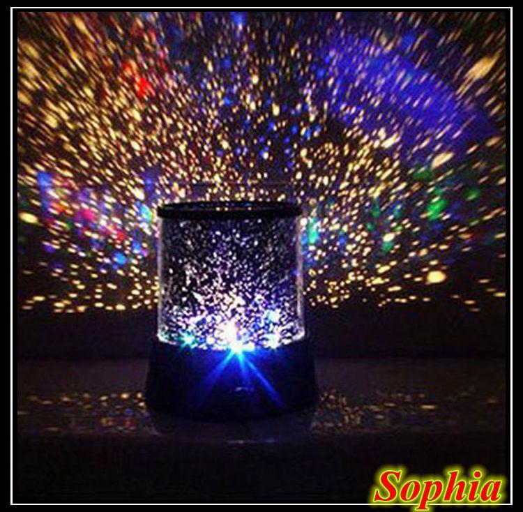 светильник-ночник проектор Звездное небо Star Beauty, на батарейках, от ада