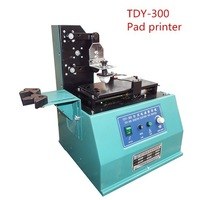 1pcs Free shipping by DHL 220V TDY-300 Environmental Desktop Electric Pad Printer,round pad printing machine,ink printer