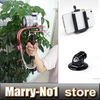 Handheld Steadycam Video Steady Cam Stabilizer Adapter Holder For iPhone Samsung Gopro Hero HD Digital Camera Camcorder DV DSLR
