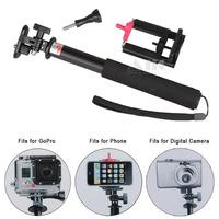 3In1 Digital Camera DV Mini Camcorder Accessories Monopod for SJ4000 Mobile phone holder GoPro HERO 4 black 3+ 3 HD HERO Mount