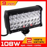 """9"""" 108w LED Work Light Bar 10-30v Adjustable Bracket Truck Tractor ATV Offroad Fog Light LED Worklight Save on 120w 126W"""