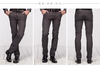 Free shipping 2014 Autumn popular men's Plaid pants men's Straight slacks Male business trousers fashion men's pants wholesale
