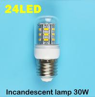 E27 24LEDS SMD 5730 (Incandescent lamp 30W)  LED Corn Bulb 220V - 250V  Warm white cold white LED Lights