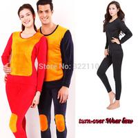 New Winter Women Men Sleepwear Set Golden Armor Lovers Long-sleeve Warm Pajamas Sets Leisure Wear Free Shipping
