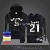 New Tim Duncan #21 GDP Basketball Super Star Spurs Hoodies Clothing Cotton Sweatshirt  Men HoodiesTraining Long-sleeved Tops
