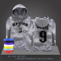 New Tony Parker  #9 GDP Basketball Super Star Spurs Hoodies Clothing Cotton Sweatshirt  Men HoodiesTraining Long-sleeved Tops