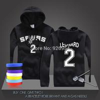 New  MVP Kawhi Leonard #2 Basketball Super Star Spurs Hoodies Clothing Cotton Sweatshirt  Men HoodiesTraining Long-sleeved Tops