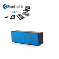 Hands-free Portable Mp3 Mini Subwoofer Retail Box Wireless Bluetooth Speaker TF USB FM Radio with Built-in Mic N16 Blue