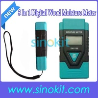 Free Shipping 3In 1Multi-function Wood Moisture Meter with Mortar Concrete and Plaster DM1100 (Blue)