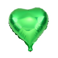 1pcs green 18in Colorful Heart-shaped Foil Balloons Birthday Wedding Party Decoration