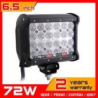 """6.5"""" 72w LED Work Light Bar 12v 24v Adjustable Bracket Truck Tractor ATV Offroad Fog Light LED Worklight Save on 120w 240W"""