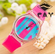 Fashion Blue Water Drop Football Red Watermelon IFK Pattern Children Kids Wristwatch Watch Gift