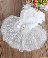 Factory direct wholesale pet supplies , pet dog wedding dress , lace dress wedding season
