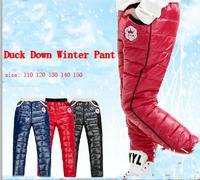 New Thick Warmer  children boys Winter pants duck down girls pants  110-150 big sizes Free shipping