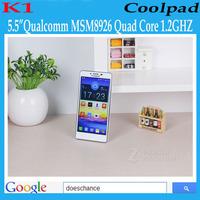 "Original Coolpad K1 7620L 4G FDD LTE 5.5"" Qualcomm MSM8926 Quad Core Mobile Phone Android 4.3 960x540 1GB RAM 4GB ROM 8MP WCDMA"