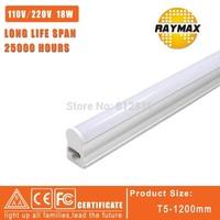 Promotion!LED Integrated Tube T5 1200mm/1.2m bulb tube 18WSMD2835 AC85-265V warm white/cold white for indoor light 6pcs / lot