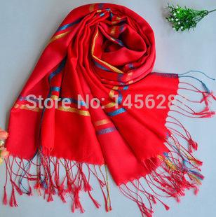 1piece/pieces Emulation silk thin women plaid scarves good quality Freeshipping(China (Mainland))