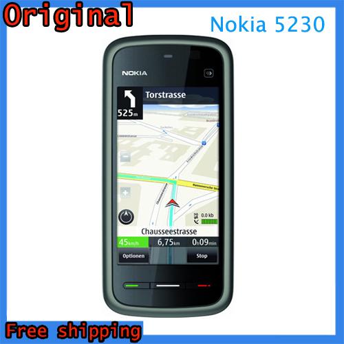 "Unlocked Brand Original Nokia 5230 GPS 3G 3.2"" Bluetooth Symbian JAVA 2MP Unlocked Mobile Phone 128 MB + 256MB SmartPhone(China (Mainland))"