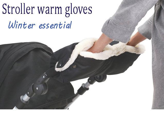 Winter Baby Stroller Warm Glove Stroller Essential Accessories Newborn Trolleys Pram Pushchair Car Gloves(China (Mainland))