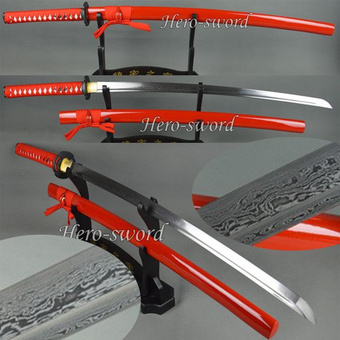 Damascus Steel Katana Sword Damascus Steel Sword
