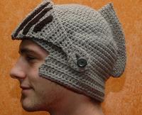Free Shipping 2014 New Arrival Roman Knight Helmet Crochet Hat Winter Warm Mask Hat