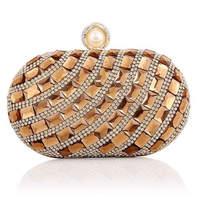 2014 New Luxury diamond Evening Bag Handade Banquet Bag bling Clutch Small Bags Free Shipping 051A