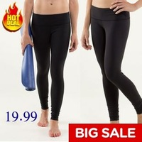 Top quality great stretch with a hidden pocket in the waistband yoga pants,  Hot sale women yoga wear