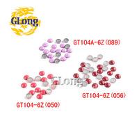 200pcs Mix Colors 6mm Hot Fix Nailhead Aluminum DIY Accessories For Bag Shoe Phone Case Garment #GT104A-6Z(050/056/089 (Mix-s))