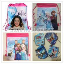 descuento grande para fines de semana una pieza disponible congelado/violetta bolsas almuerzo escolar mochila escolar envío gratis(China (Mainland))
