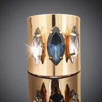 Fashion Bijoux Brand Ring  AAA Swiss Cubic Zirconia Women Wedding Rings 18K Gold Plated Fashion Vintage Opening Ring  ER042
