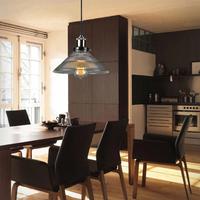 New Style Retro Vintage Industrial Loft Pendant Light Glass Iron Edison Chandelier Kitchen Restaurant Fixture Lighting Bulb