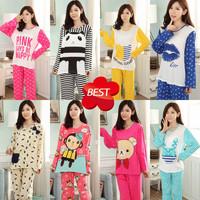 Apparel Women's Clothing Women's Sleep & Lounge  Full Sleeve Cartoon Cute Pajama Sets 216